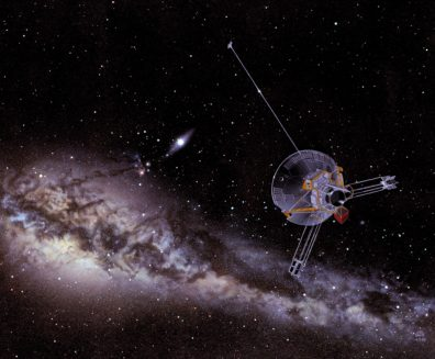 Illustration of the Pioneer spacecraft. Courtesy NASA.