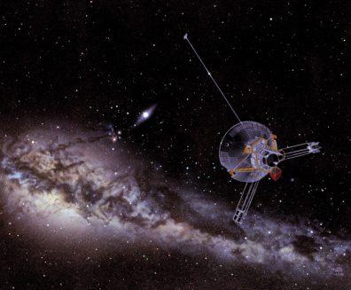 Illustration of the Pioneer spacecraft. Courtesy NASA.