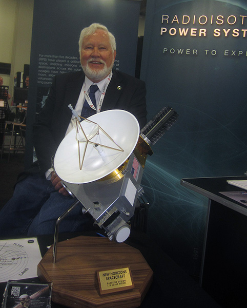 Gary Bennett with New Horizon spacecraft