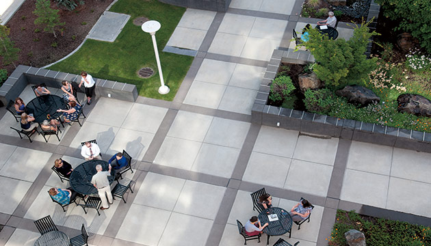 WSU Spokane outdoor public spaces, by Zach Mazur