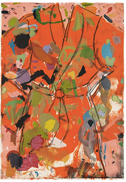 THE ORANGE BIRTHDAY ROBE by Jim Dine