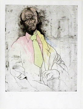 EIGHT SHEETS FROM AN UNDEFINED NOVEL, STATE II: SELF-PORTRAIT AS A DIE-MAKER by Jim Dine