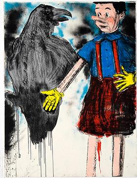 TARTAN PANTS by Jim Dine