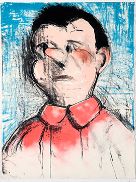 THE PINK NOSE by Jim Dine