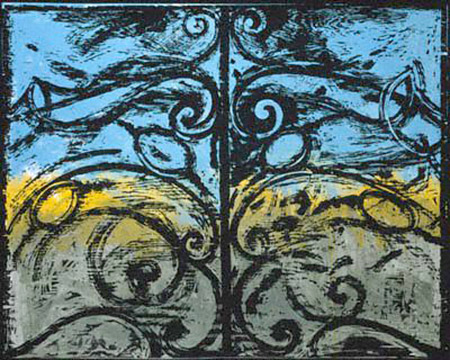 THE FIRST WOODCUT GATE by Jim Dine