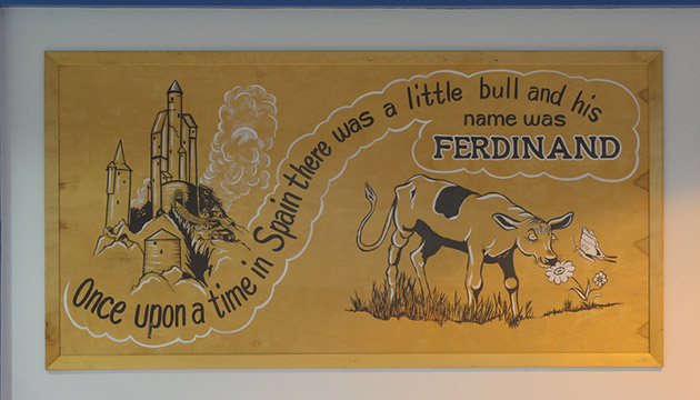 Murals from the old Troy Hall Ferdinand's ice cream shoppe