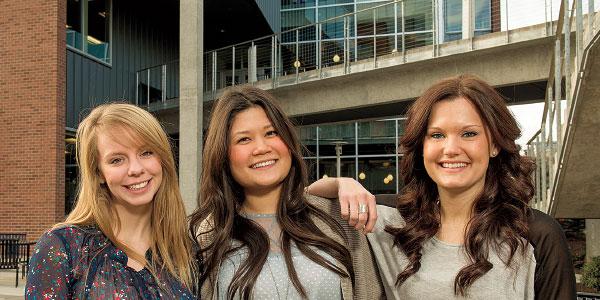 WSU Spokane nursing students
