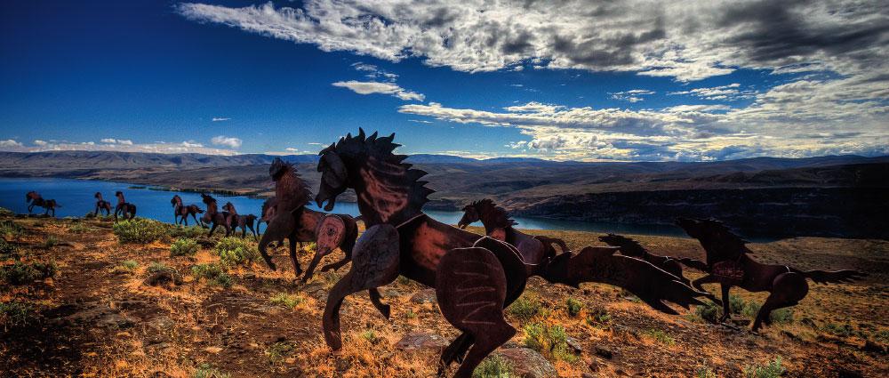 Wild Horse monument at Vantage
