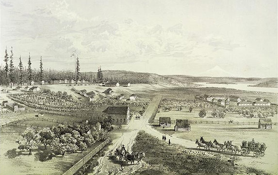 Fort Vancouver, 1854