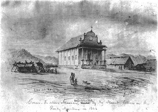 Cataldo Mission in 1842
