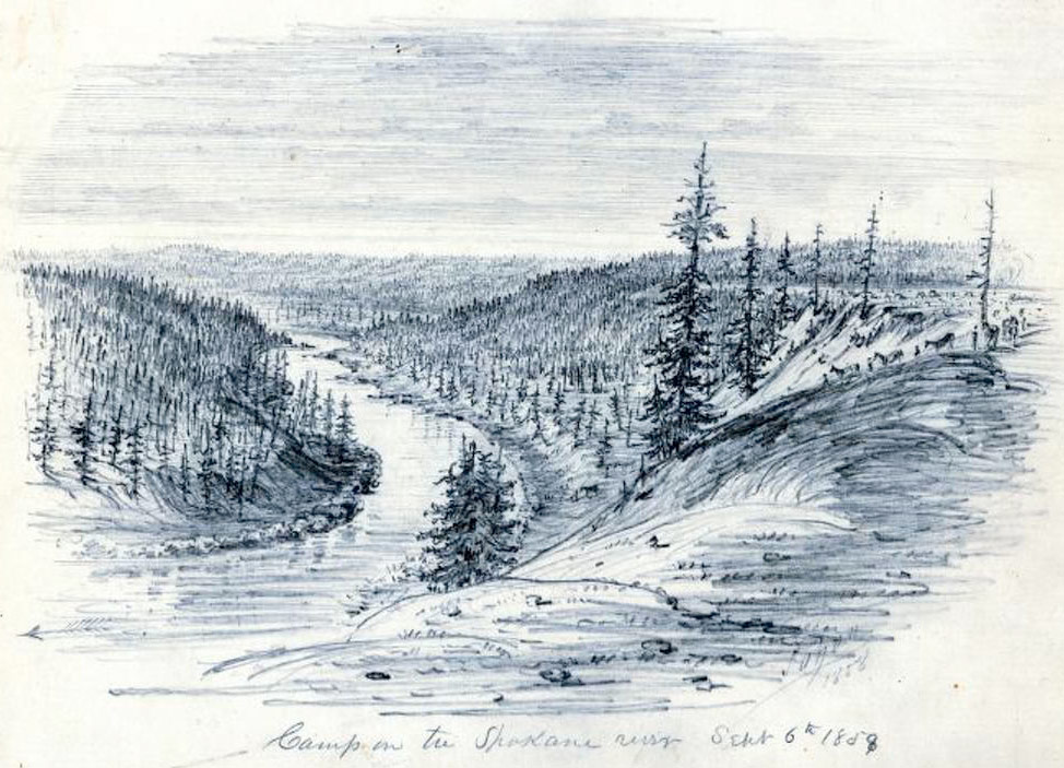 Spokane River, 1858