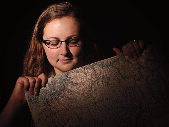 Chelsea Leachman with map
