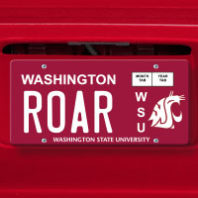 WSU license plate