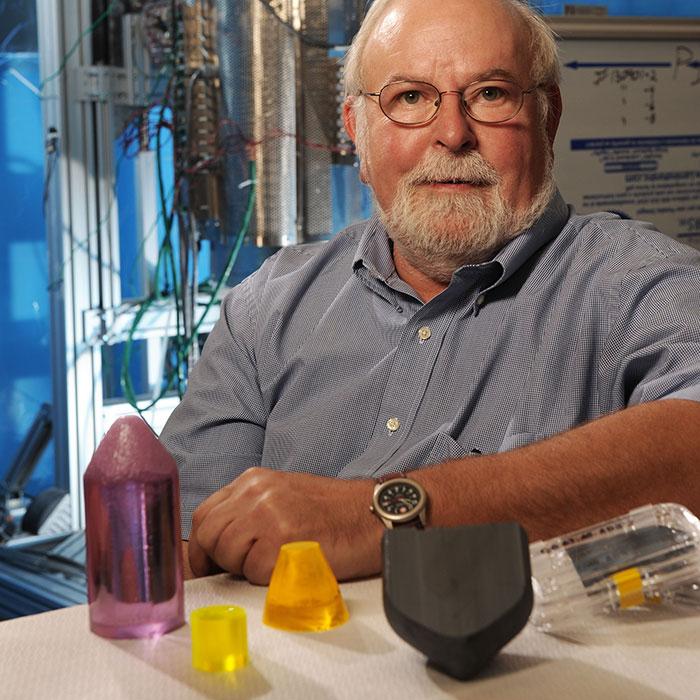 Kelvin Lynn with crystals