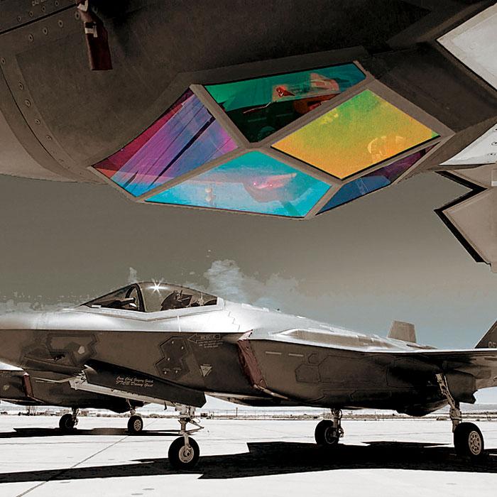Sapphire windows in jet fighter