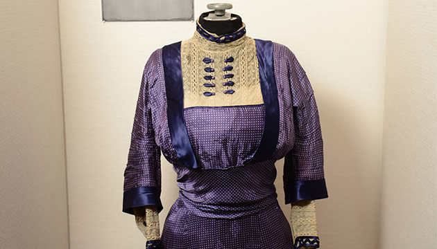 WSU exhibit of early Issaquah businesswoman Lucy Stevenson's collection. Photo by Robert Hubner.