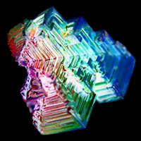 36764891 - color bismuth crystal isolated on the white background