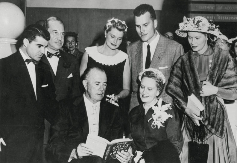 John McCallum with Grace Kelly's family