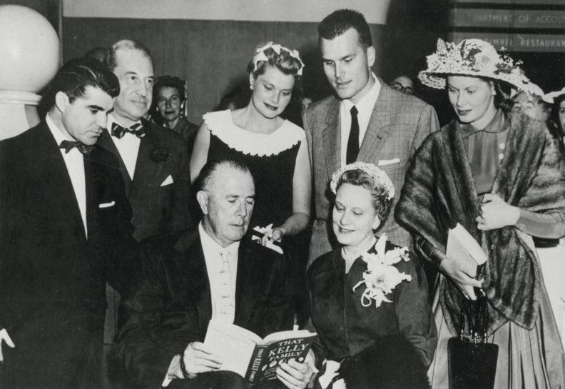 John McCallum with Grace Kelly's family