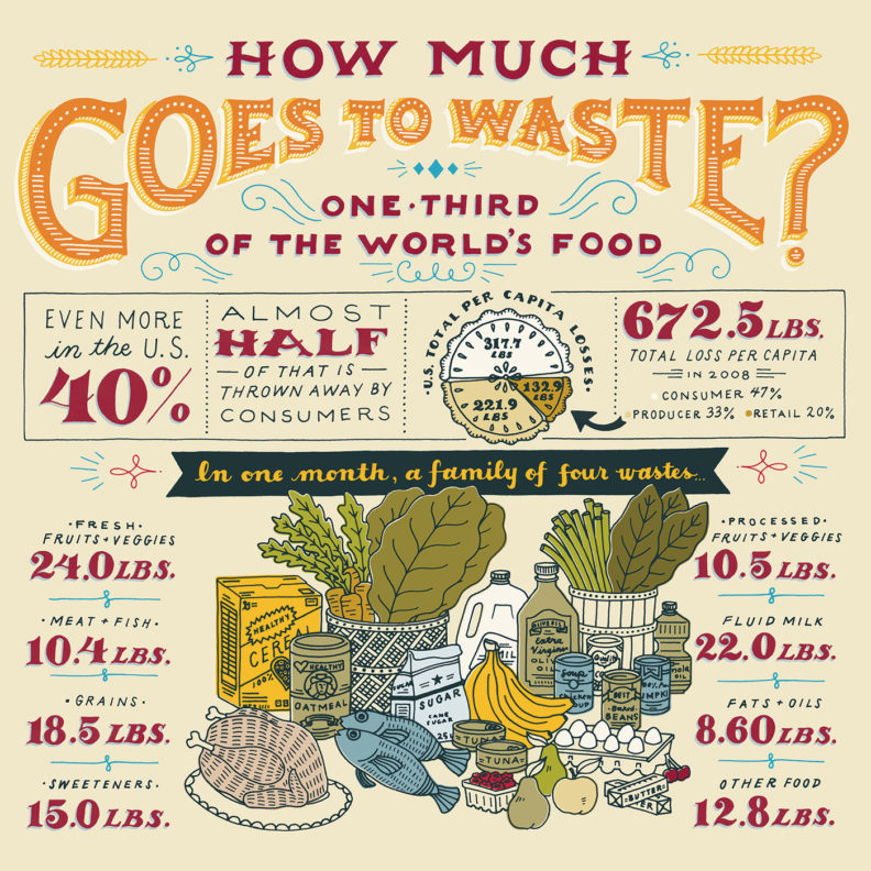 How Much Goes to Waste infographic
