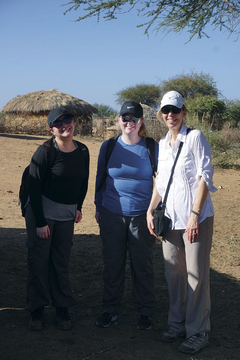 Brandenstein and Willard with Marie Mayes in Tanzania