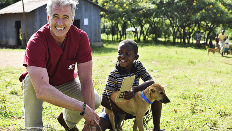 Guy Palmer with Tanzanian child