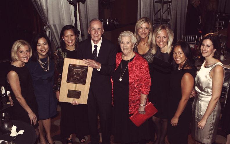 Bob Smawley receiving award