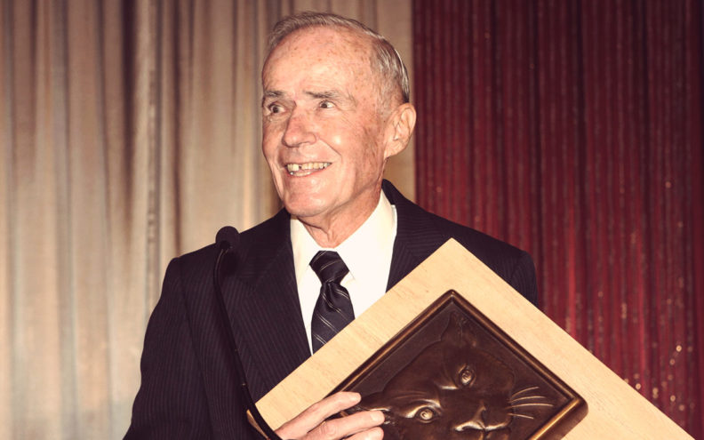 Bob Smawley with award