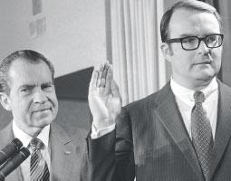 Ruckelshaus with Nixon