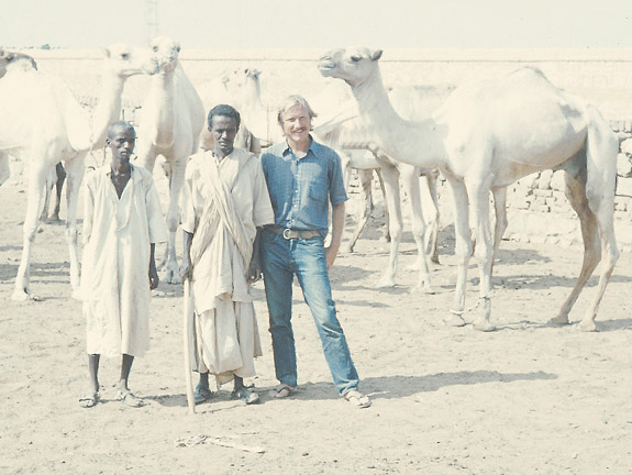 Barry Hewlett in Sudan in the 1970s