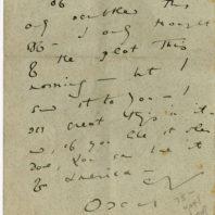 Letter from Oscar Wilde