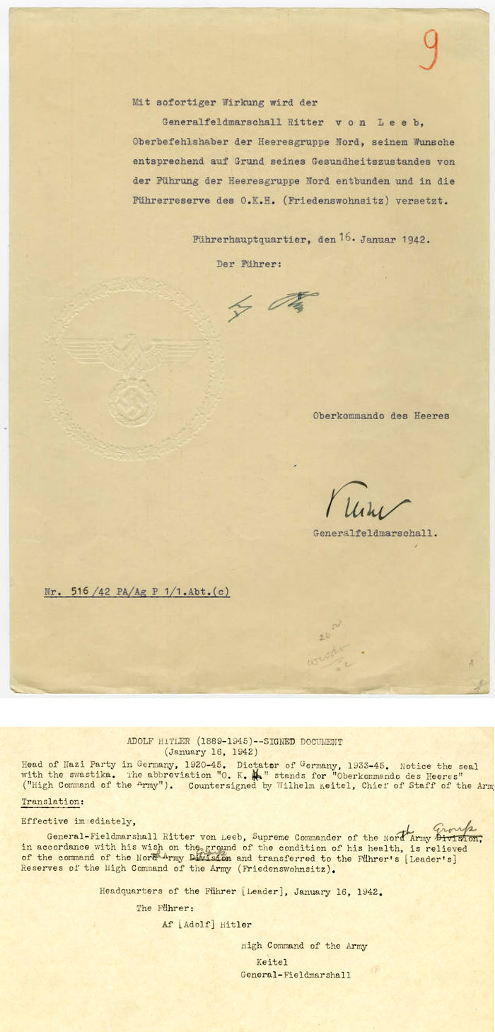 Legal document by Adolf Hitler