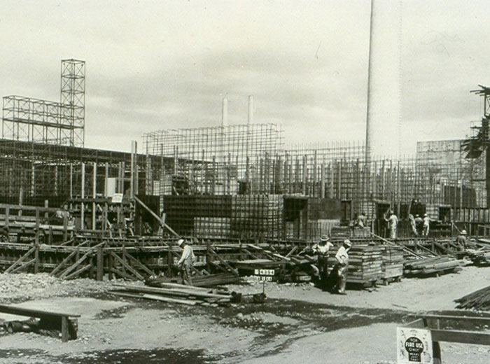 B Reactor Construction, 1944