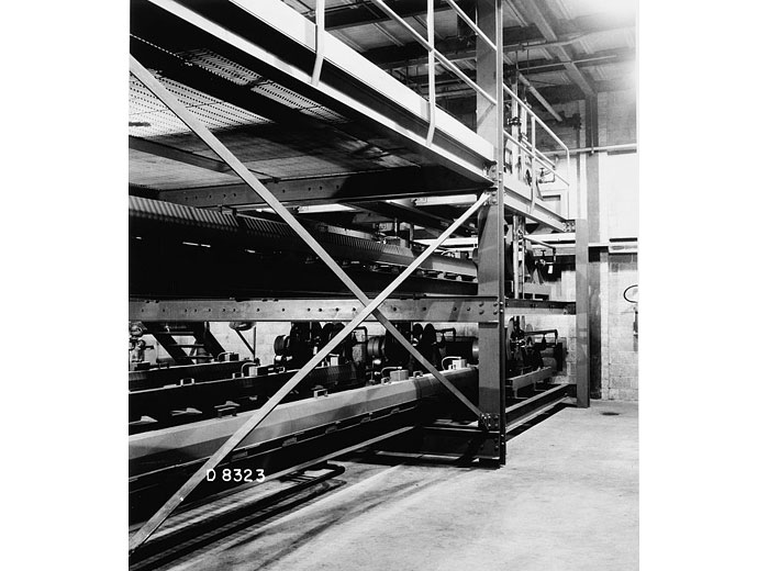 A typical outer rod room, or rack room