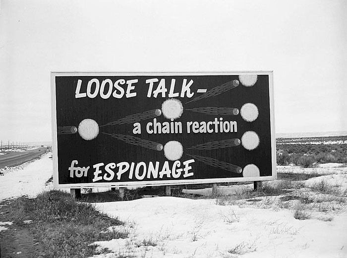 Cold War-era billboard at the Hanford site