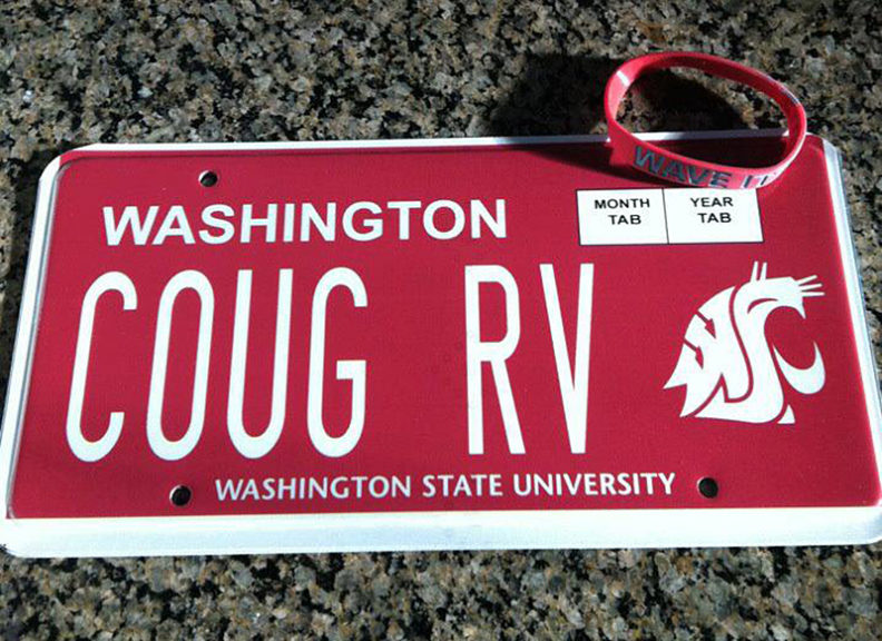 WSU custom license plate