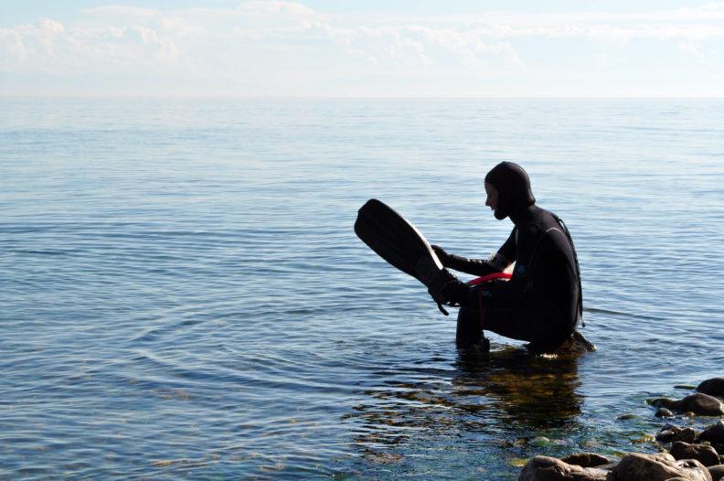 Snorkeling in Lake Baikal