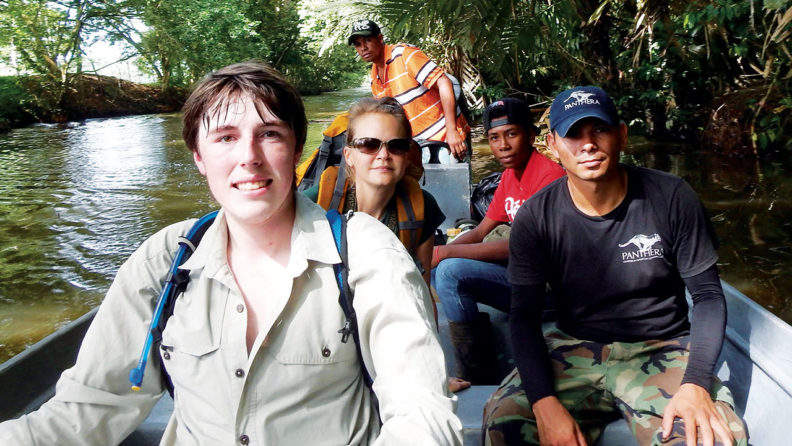 Travis King and other researchers in Costa Rica