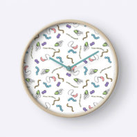 Clock with microbes