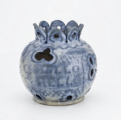 ceramic jar by artist Jeffry Mitchell