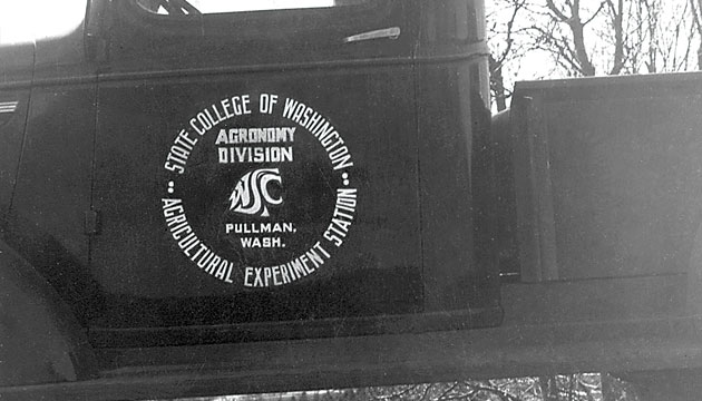 WSC campus truck with logo in 1936