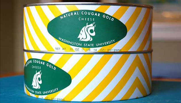 Vintage WSU logos on Cougar Gold cans