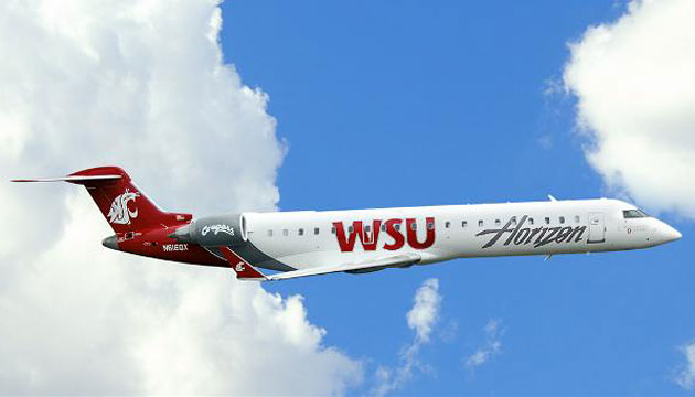 Horizon Air with WSU logo