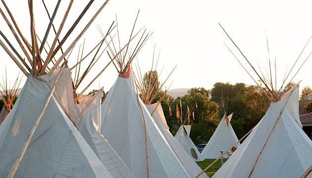 Teepees at the Omak Stampede
