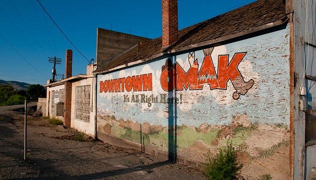 A mural in Omak