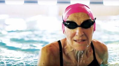 Older woman swimming at Panorama