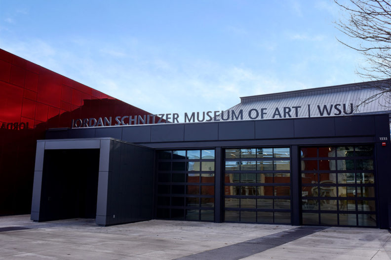 Entrance of Jordan Schnitzer Museum of Art/WSU