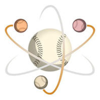 Illustration of baseball as atom nucleus
