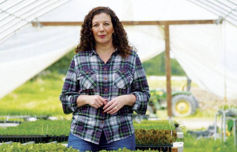 Audra Mulkern in greenhouse