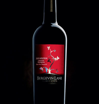 Bergevin Lane wine label by Doubleknot Creative